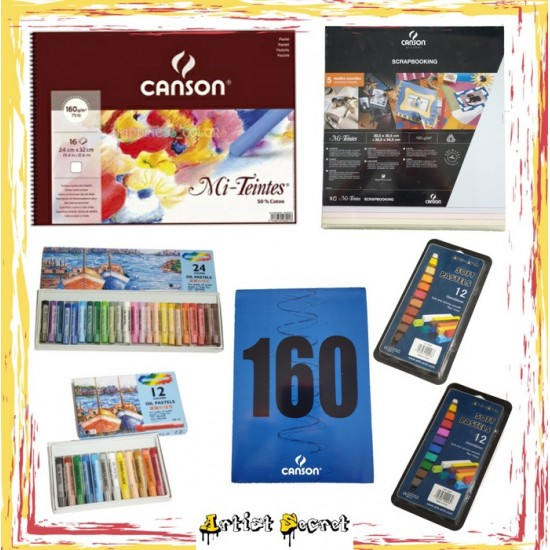 PACKAGE 3 (CANSON PASTEL COLORS COLLECTION)