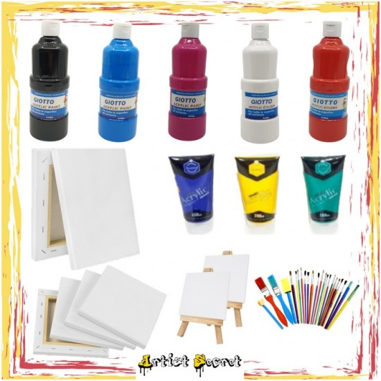 KDZ-5 PACKAGE 37 PCS Acrylic and Canvas