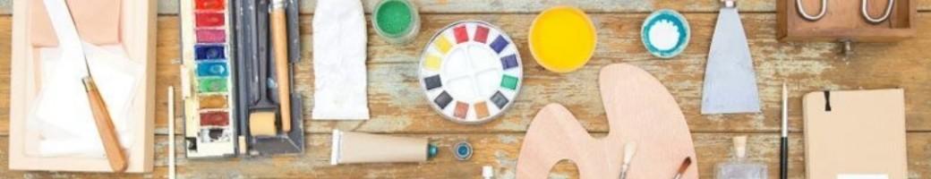 Brushes, Art Medium & Tools