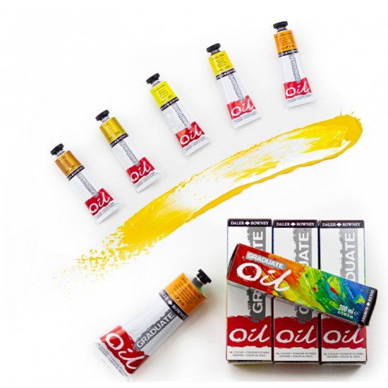 طقم ألوان زيت 10 لون × 38 ملي جريدويت من دالر راوني.