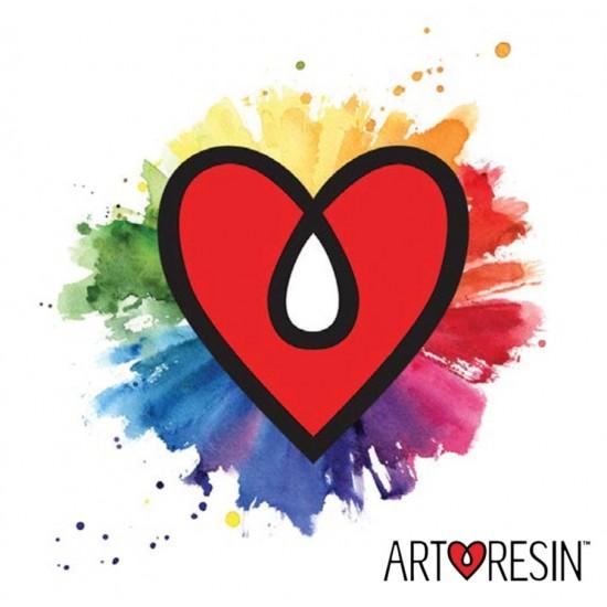 مجموعة 4 ألوان صبغات نيون فسفورية لتلوين الرزن من آرت رزن الأمريكية