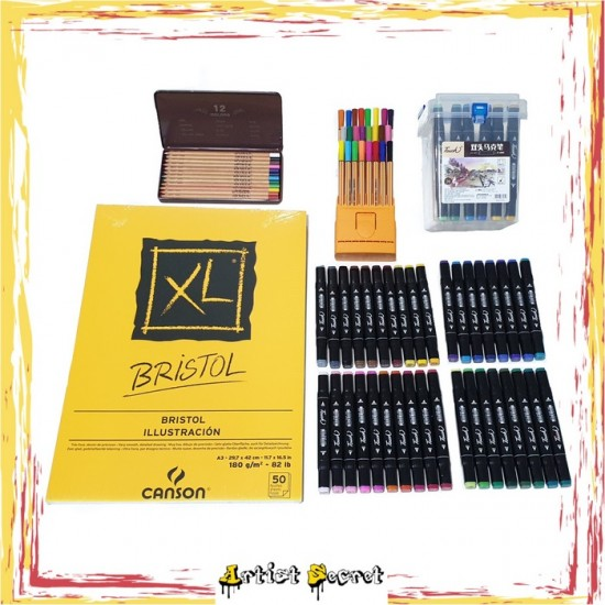 GR-14 Package 36 Color Marker Kit for drawing anime and manga