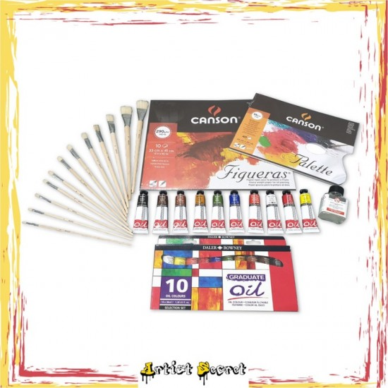 HE-1 PROFESSIONAL OIL COLOR KIT FOR HOBBYIST AND EXPERIENCED PACKAGE